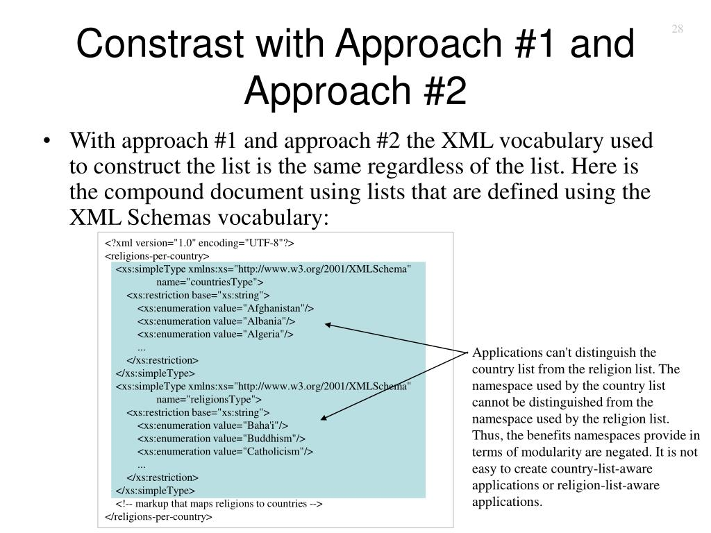 Constrast with Approach #1 and Approach #2