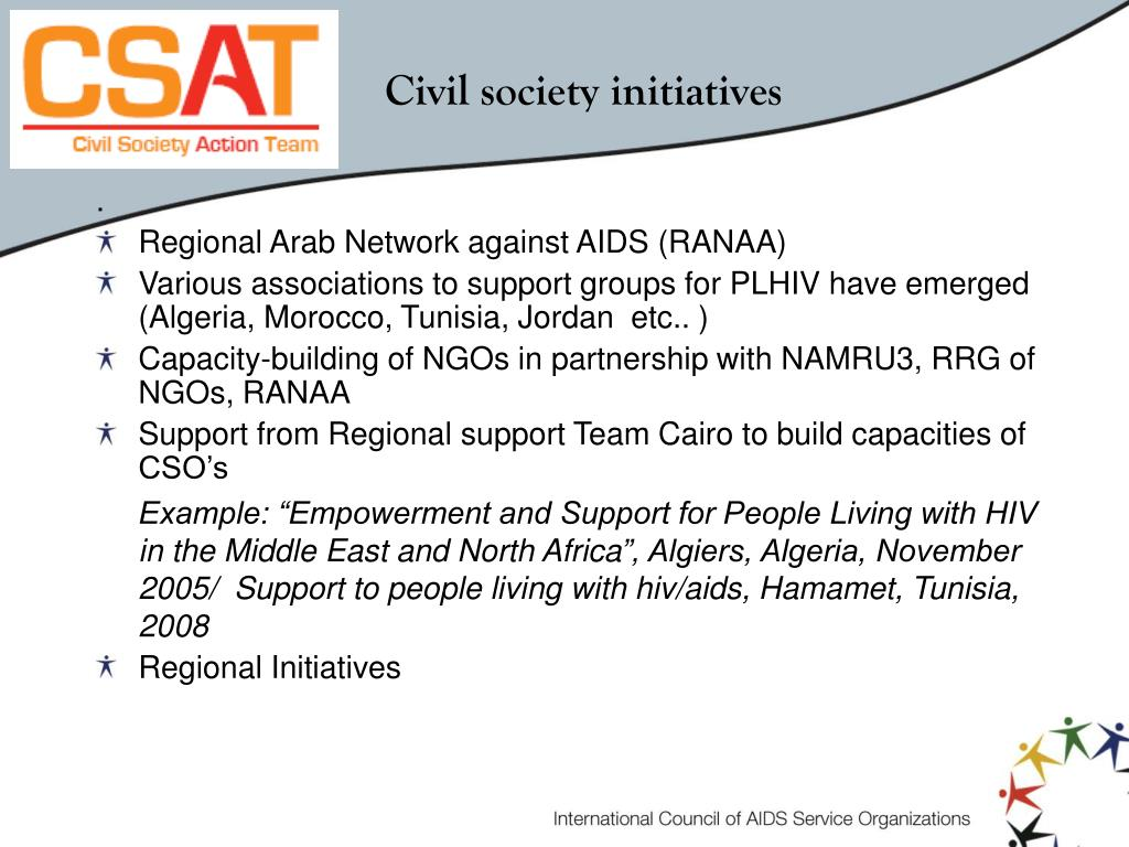 Civil society initiatives