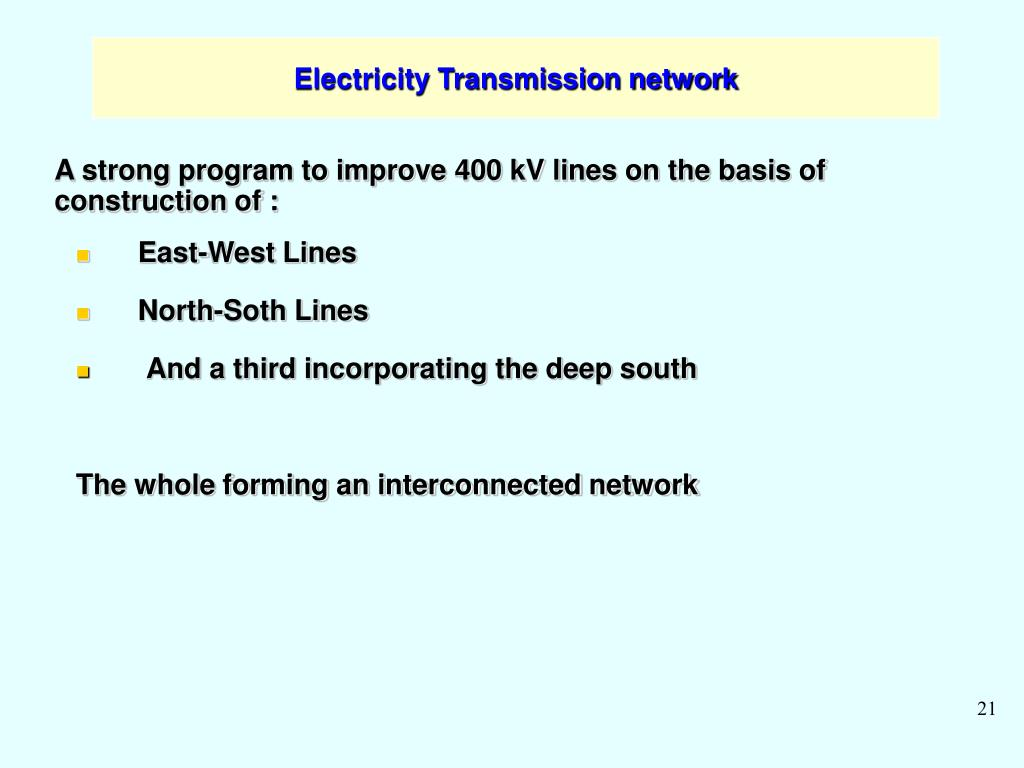 Electricity Transmission network