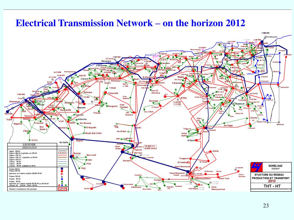 Electrical Transmission Network – on the horizon 2012