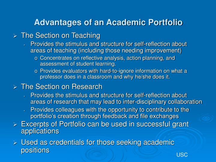 Advantages of an Academic Portfolio
