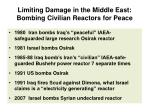 limiting damage in the middle east bombing civilian reactors for peace
