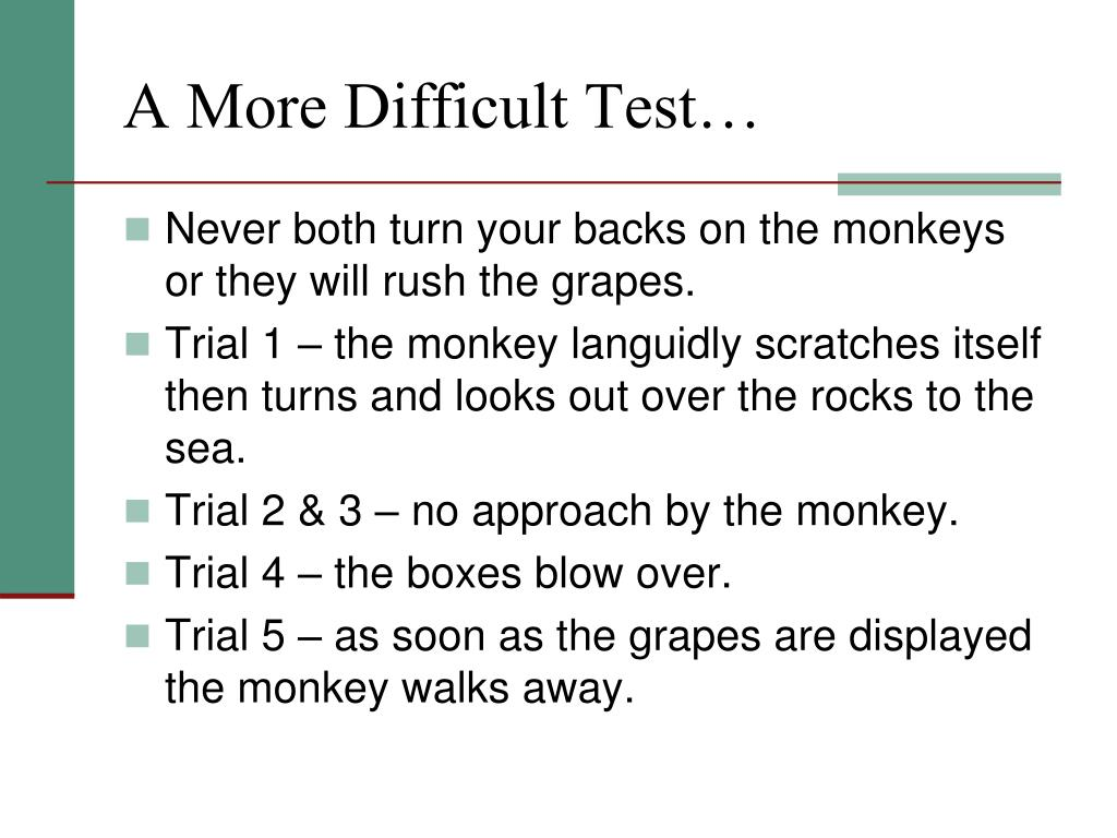 A More Difficult Test…