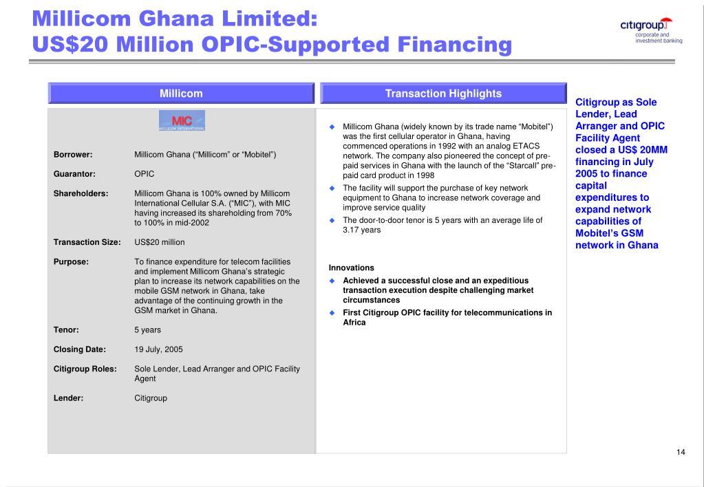 Millicom Ghana Limited: