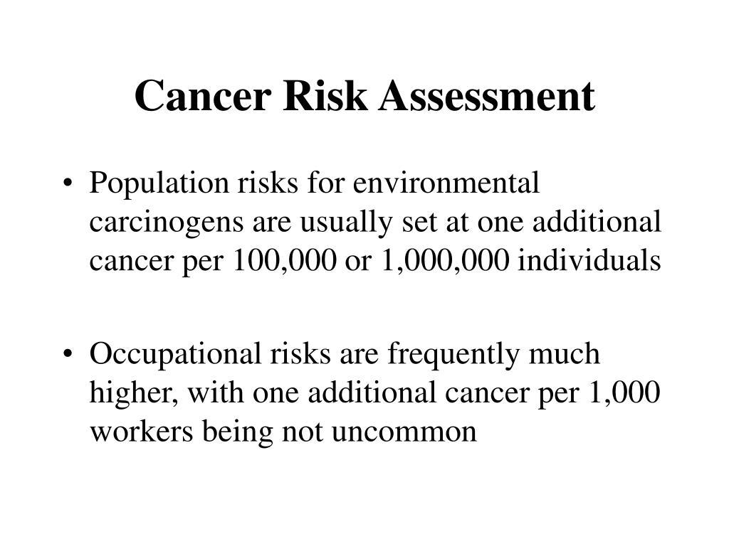 Cancer Risk Assessment