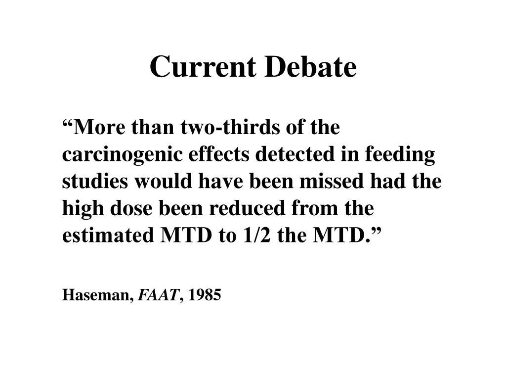 Current Debate