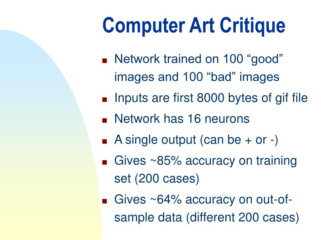 Computer Art Critique