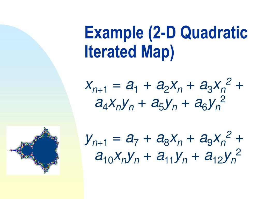 Example (2-D Quadratic Iterated Map)