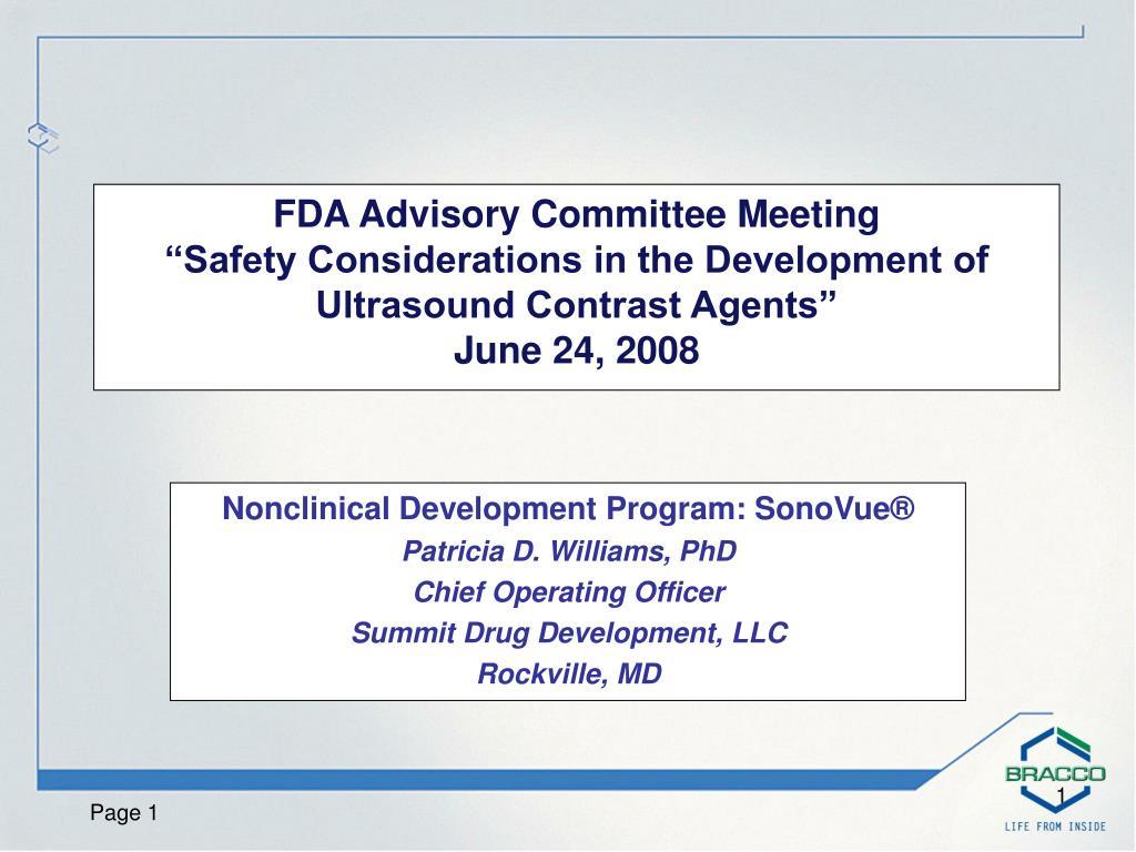 FDA Advisory Committee Meeting