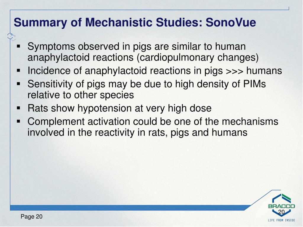 Symptoms observed in pigs are similar to human anaphylactoid reactions (cardiopulmonary changes)