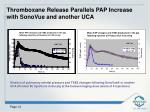 thromboxane release parallels pap increase with sonovue and another uca