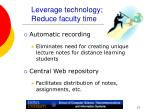leverage technology reduce faculty time