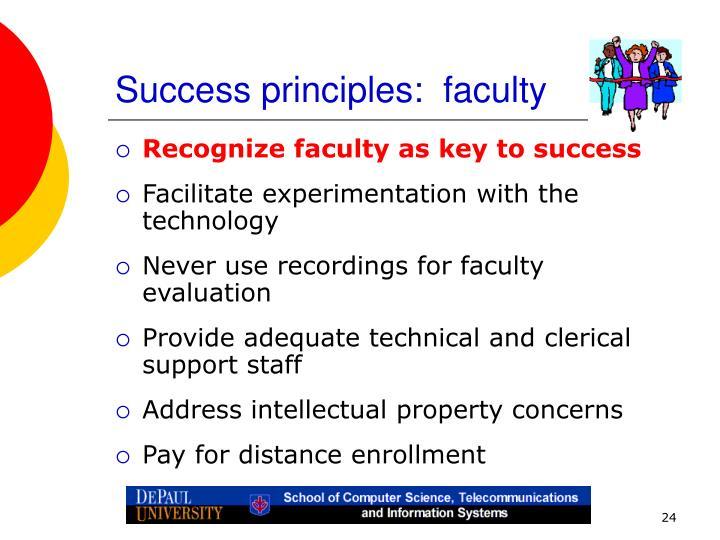 Success principles:  faculty