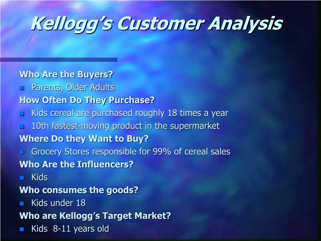 Kellogg's Customer Analysis