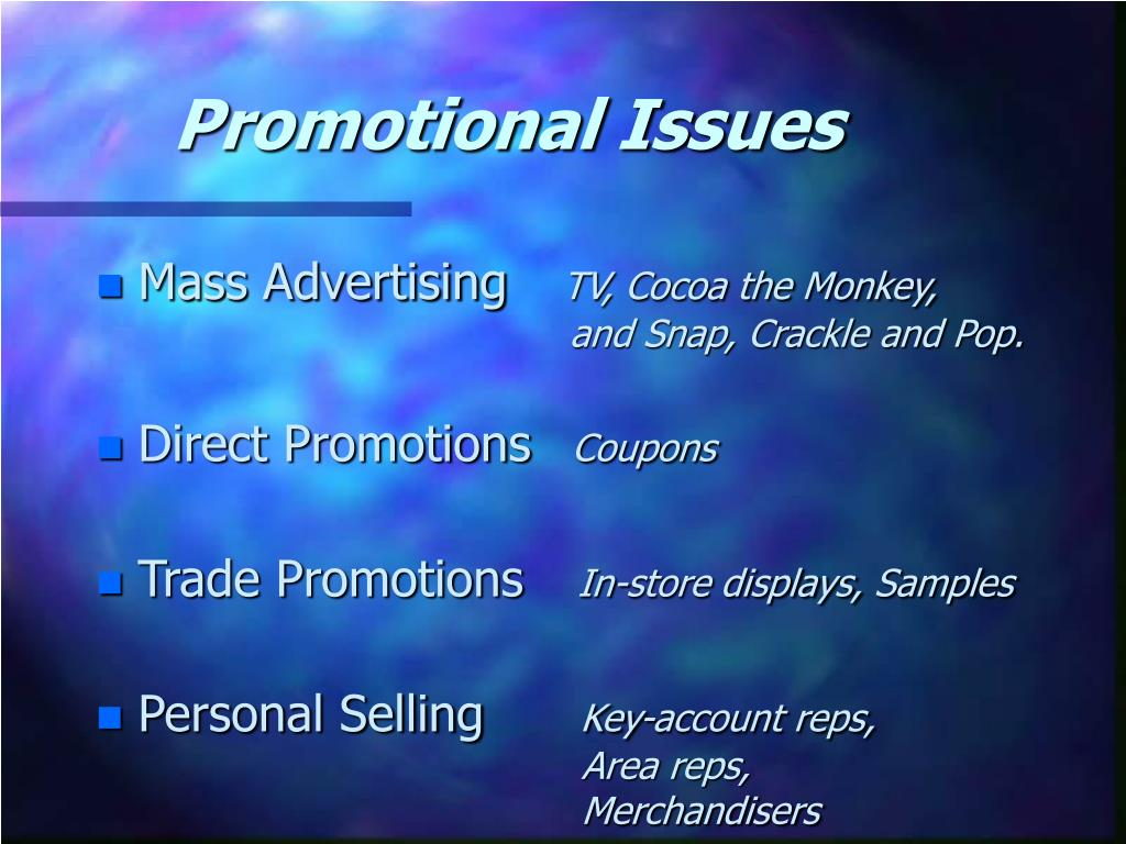 Promotional Issues