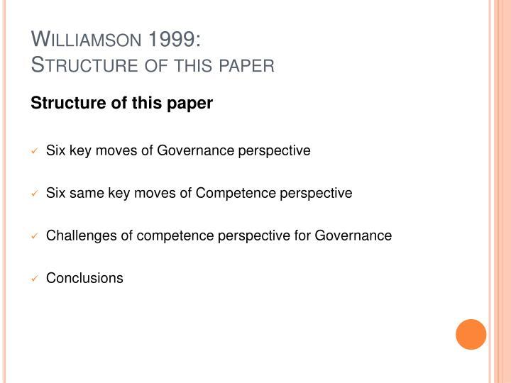 Williamson 1999: