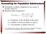 accounting for population substructure