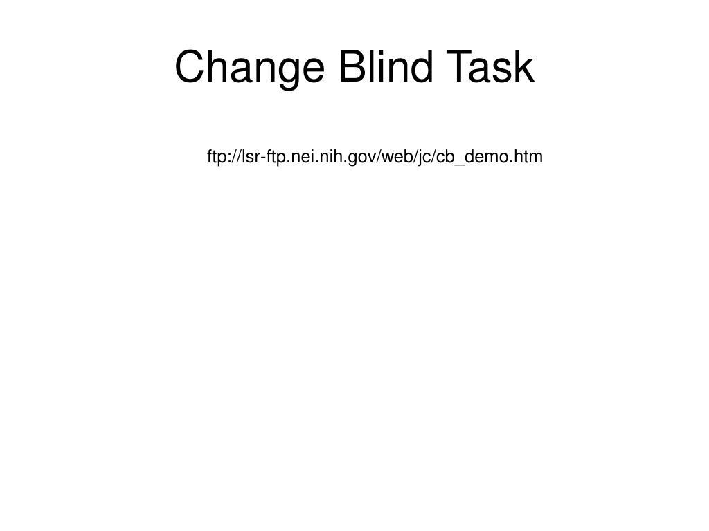 Change Blind Task