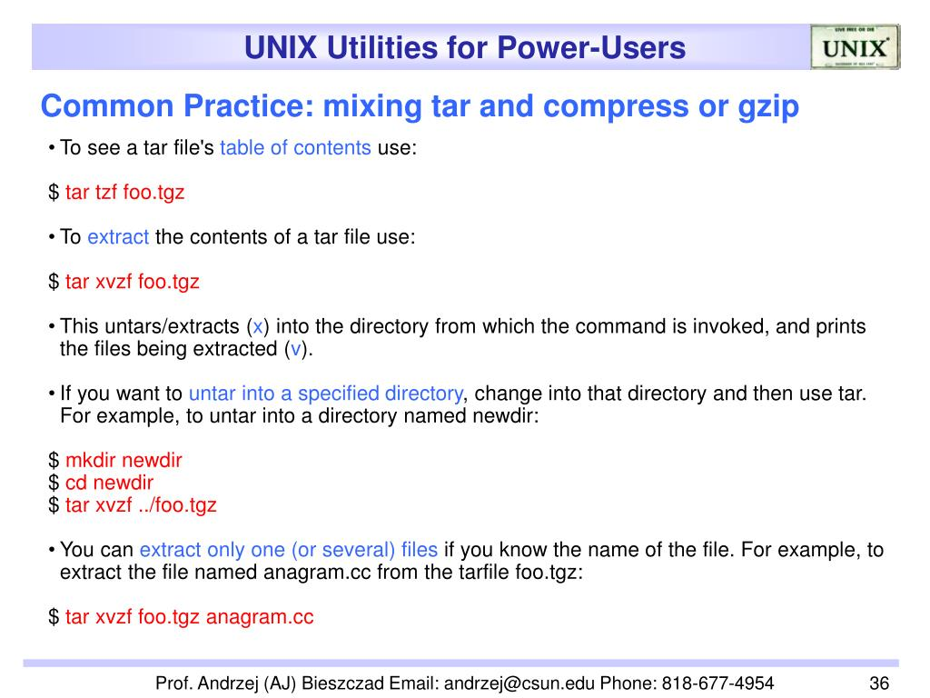 Common Practice: mixing tar and compress or gzip