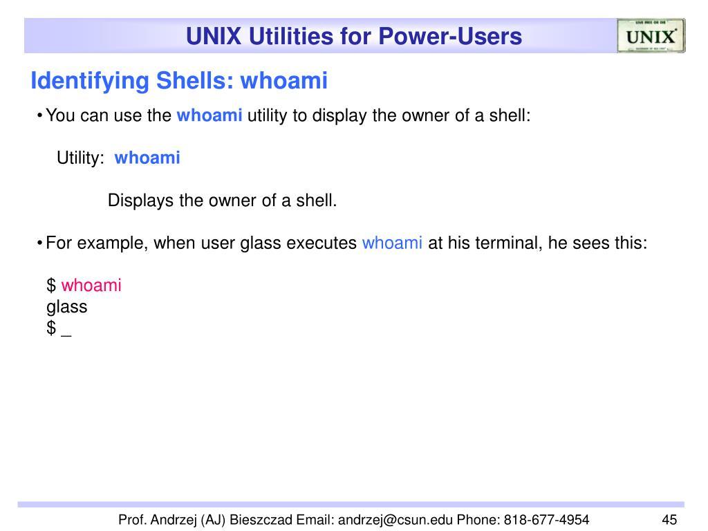 Identifying Shells: whoami