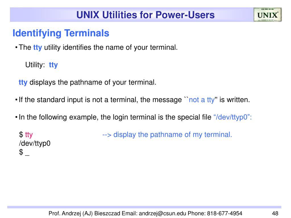 Identifying Terminals