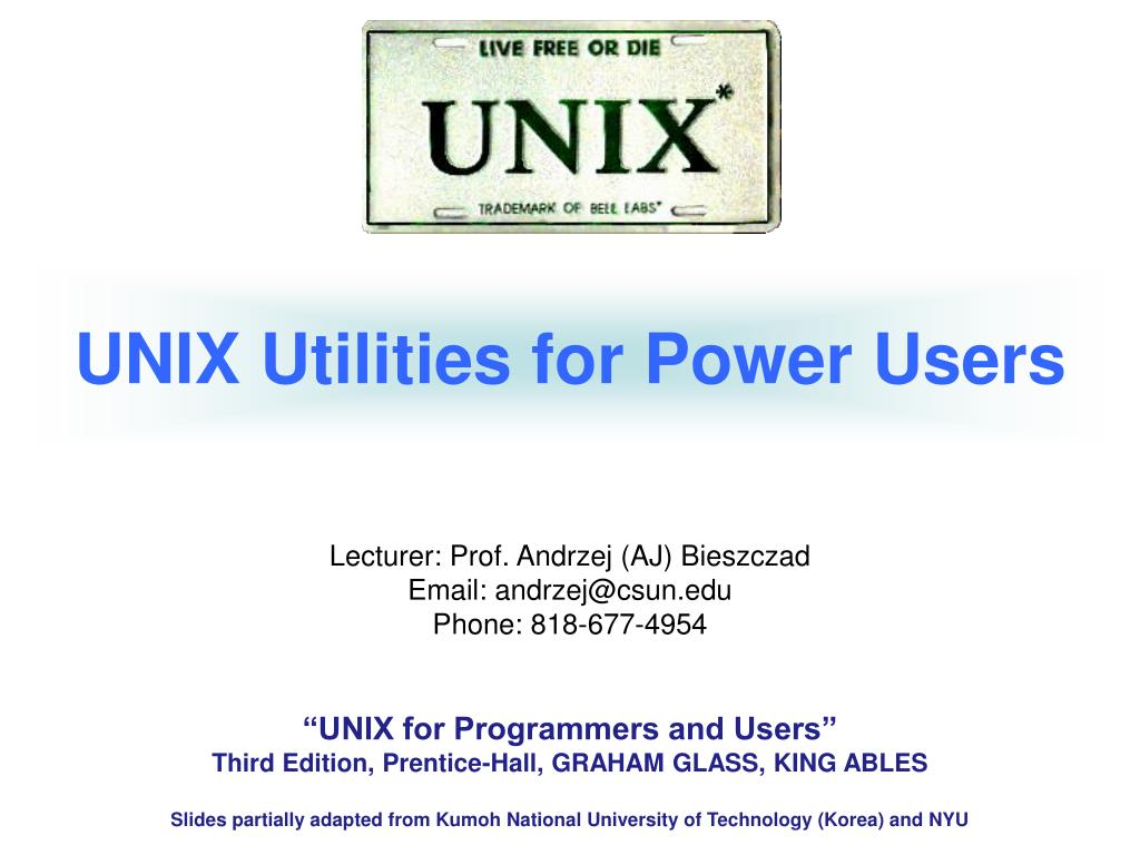 UNIX Utilities for Power Users