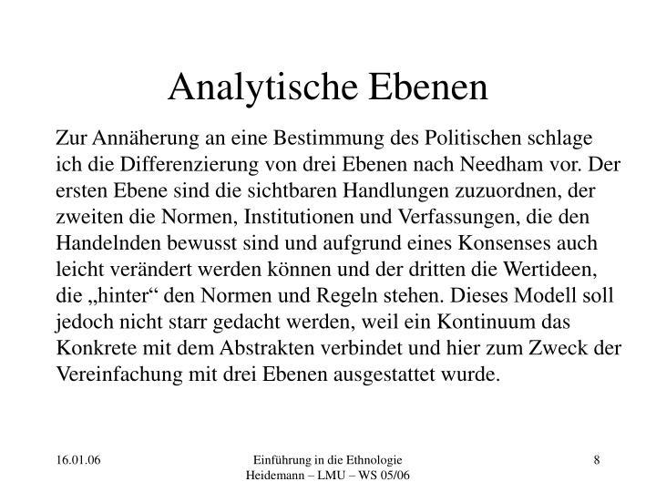 Analytische Ebenen