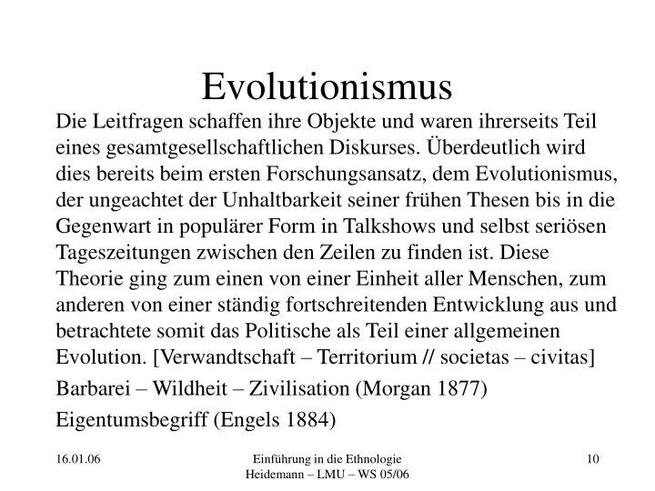 Evolutionismus