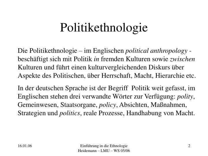 Politikethnologie