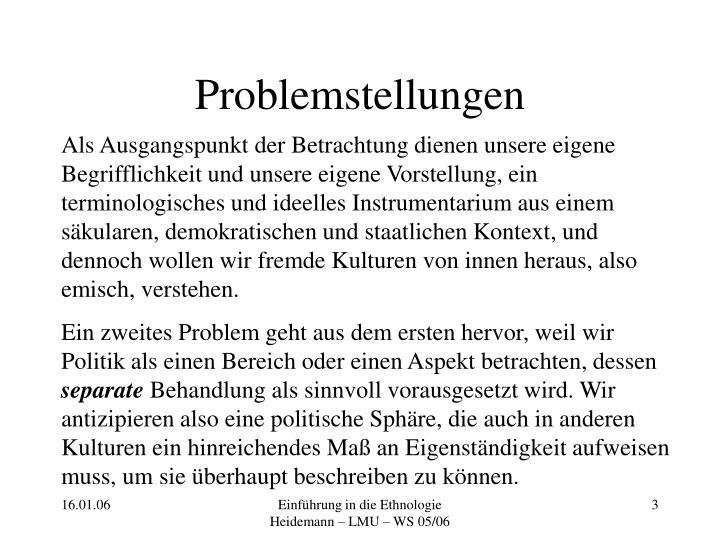 Problemstellungen