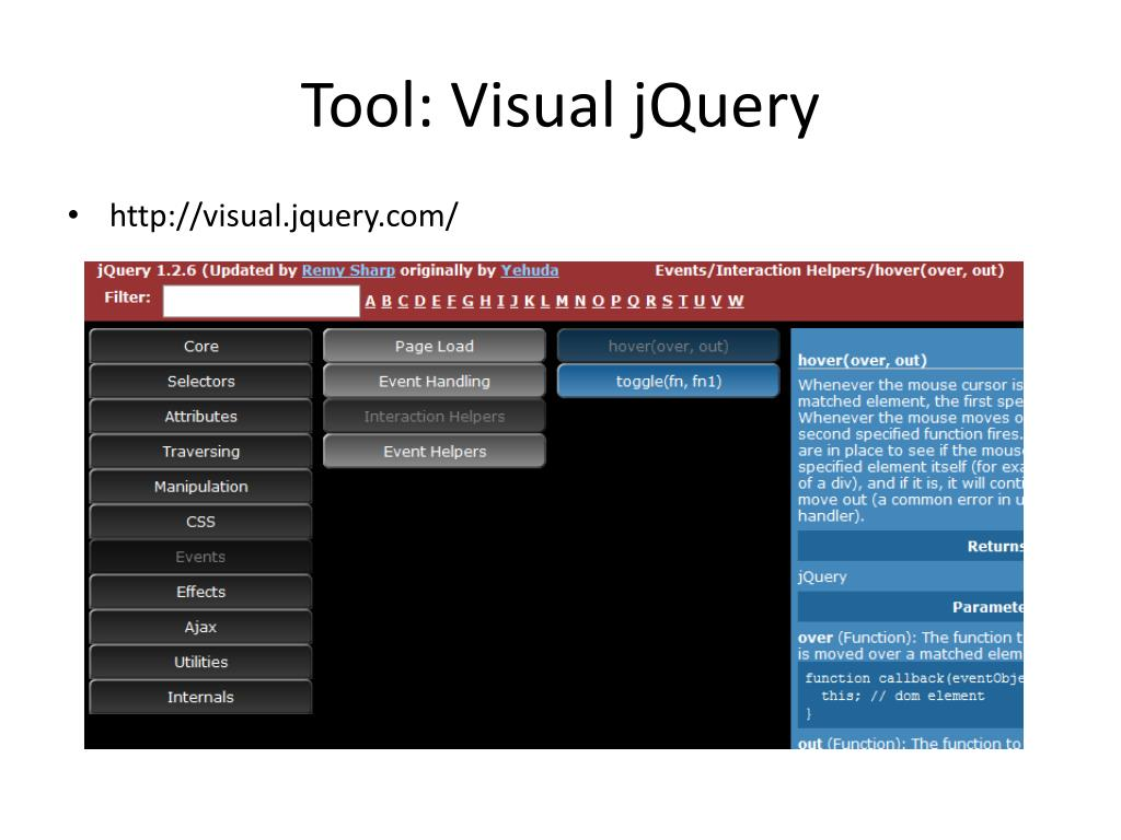 Tool: Visual jQuery