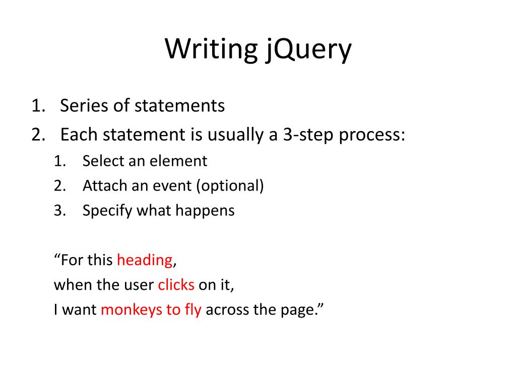 Writing jQuery