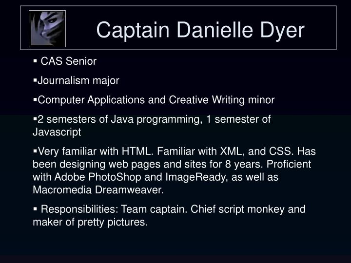 Captain danielle dyer