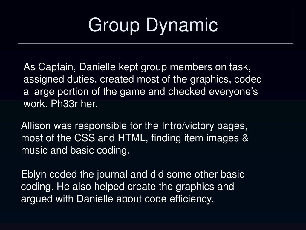 Group Dynamic