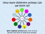 how many different animals can we think of