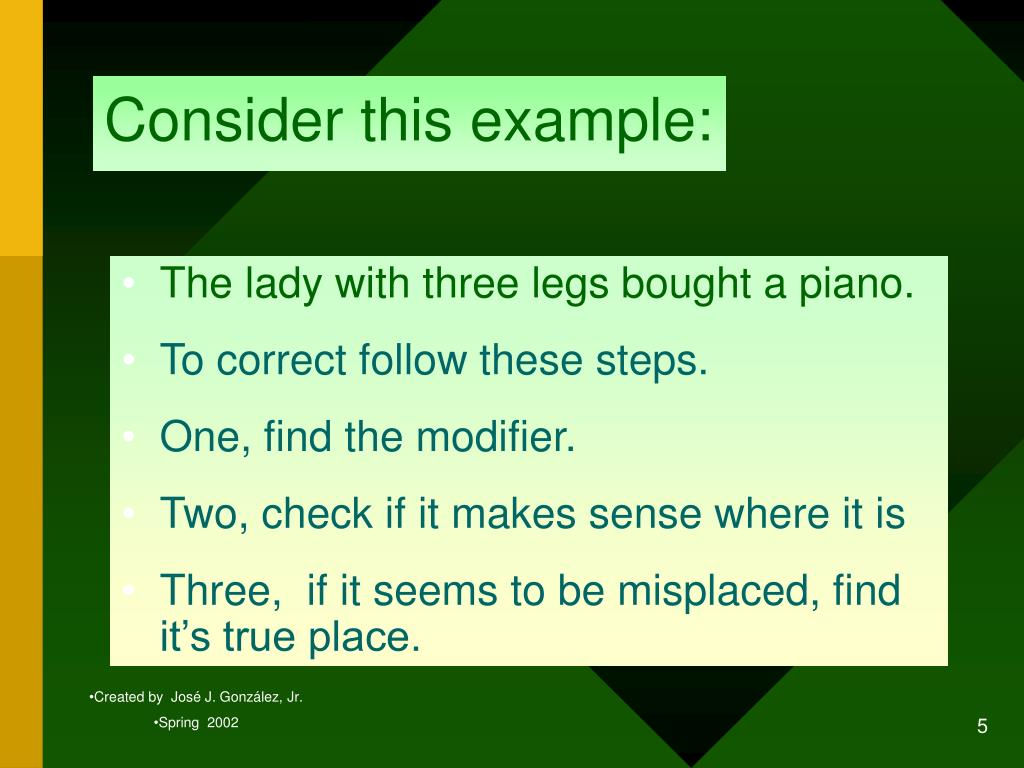 Consider this example: