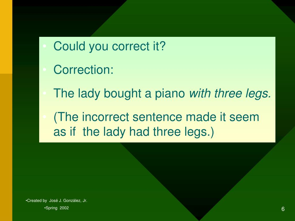 Could you correct it?