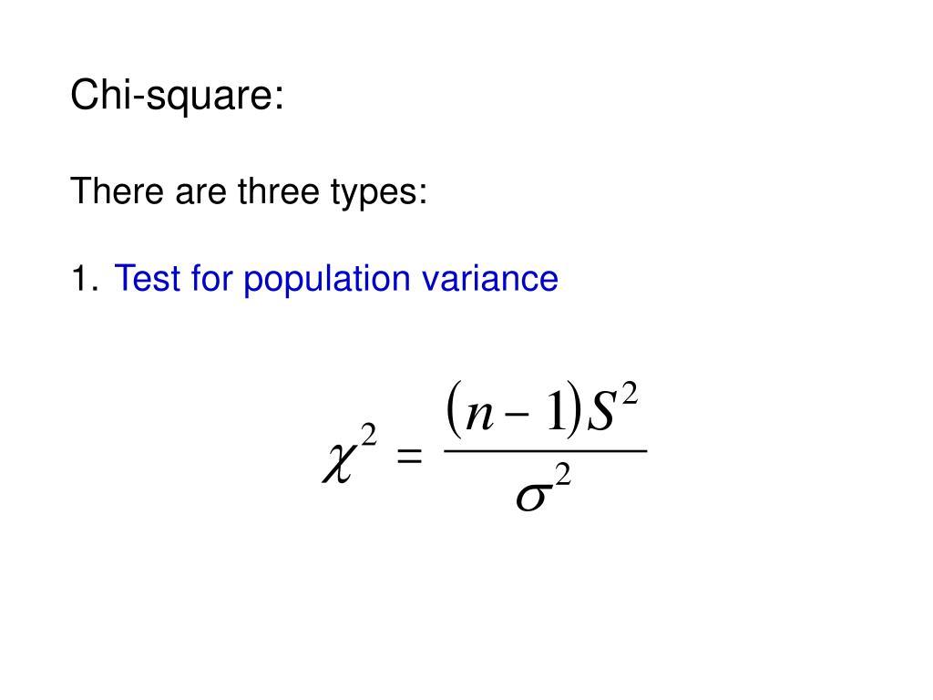 Chi-square: