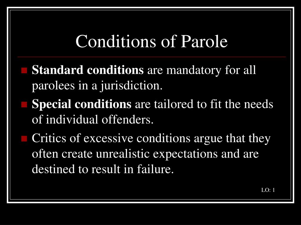 Conditions of Parole