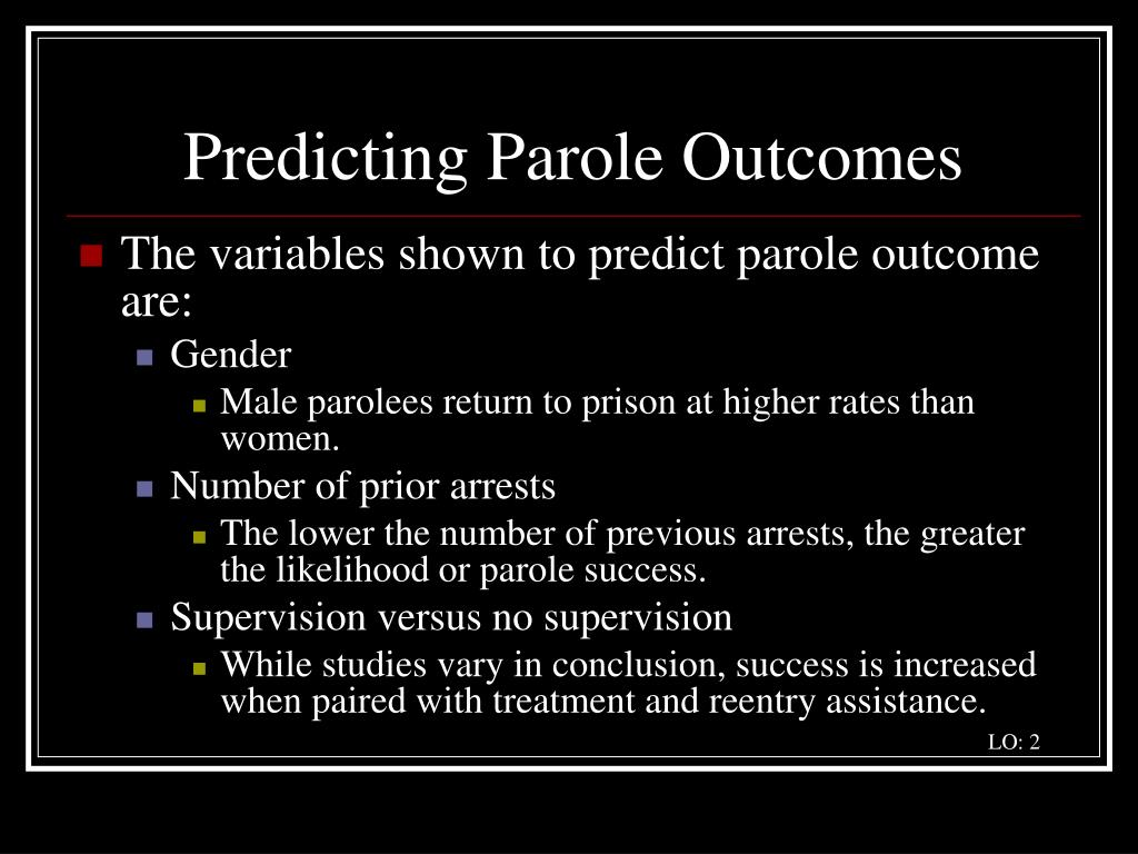 Predicting Parole Outcomes
