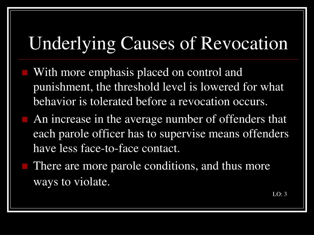 Underlying Causes of Revocation
