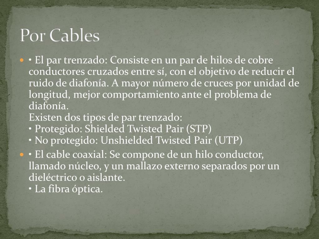 Por Cables