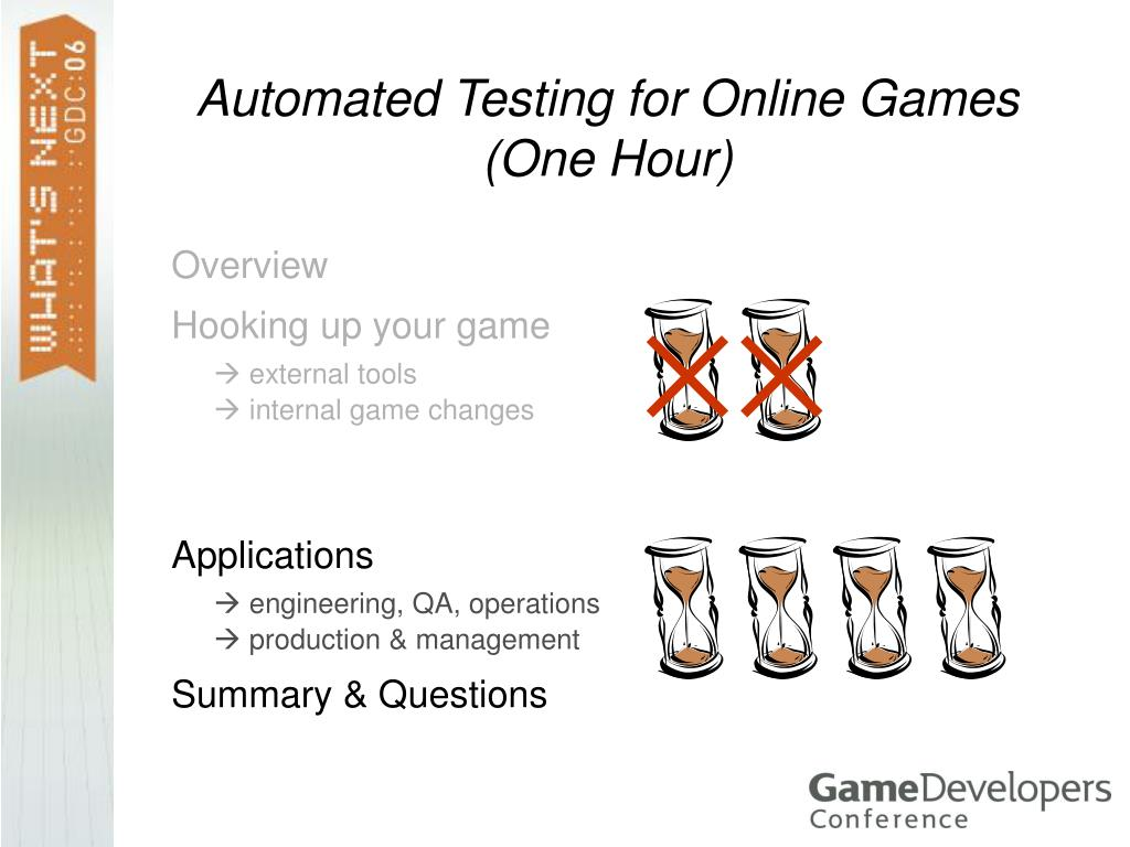 Automated Testing for Online Games