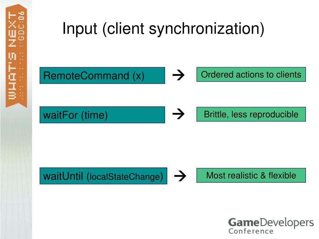 Input (client synchronization)