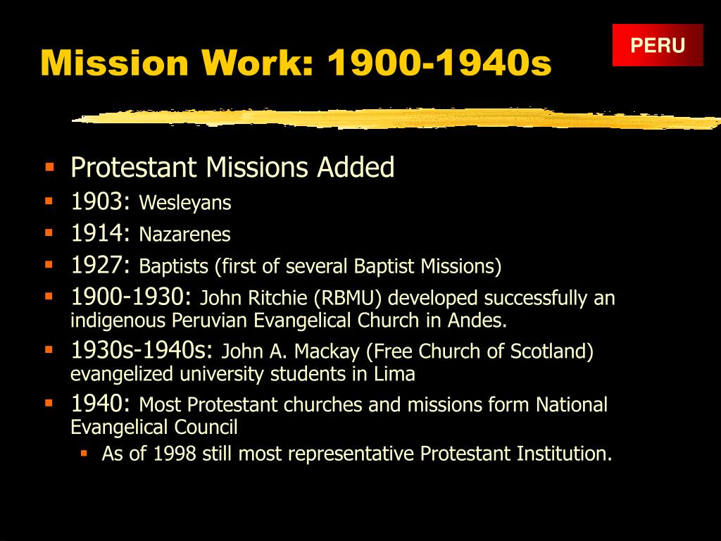 Mission Work: 1900-1940s
