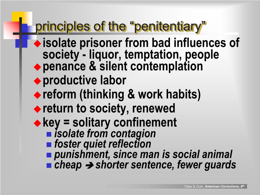 """principles of the """"penitentiary"""""""