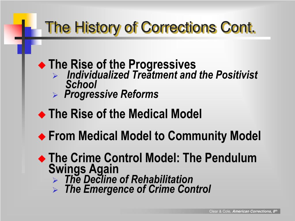 The History of Corrections Cont.