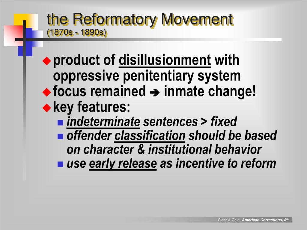 the Reformatory Movement