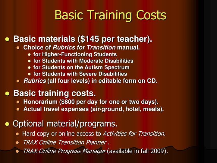 Basic Training Costs