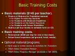 basic training costs